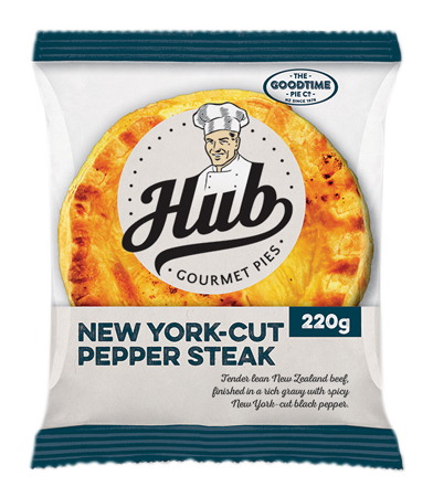 Hub NY Pepper Steak Pie