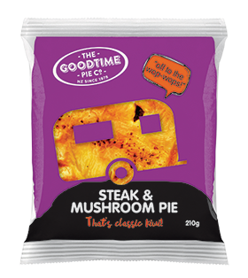 Goodtime Classic Steak and Mushroom Pie