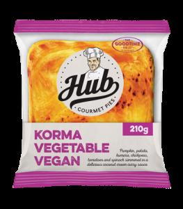 Hub Korma Vegetarian Vegan Pie