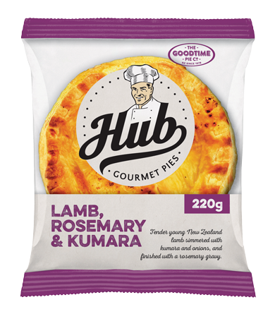 Hub Lamb Rosemary and Kumara Pie