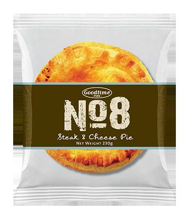 No.8 Premium Steak and Cheese Pie