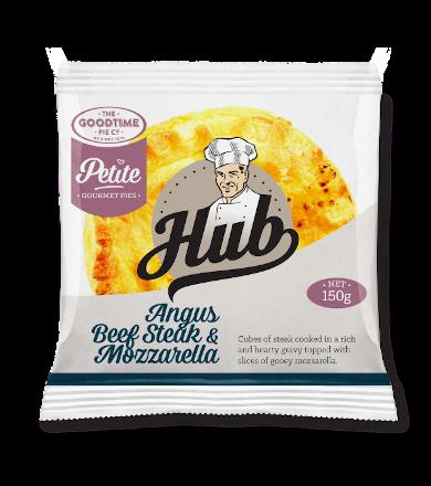 Hub Gourmet Petite Pie - Angus Beef Steak & Mozarella