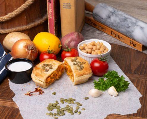 Hub Gourmet Vegan Chana Masala Pie Backgroundk
