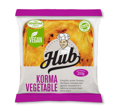 Hub Gourmet Vegan Korma Vegetable Pie Pack